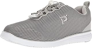 Propet Women's TravelFit Prestige Walking Shoe, Silver/Black, 8.5 2E US