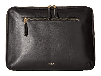 KNOMO London Mayfair Luxe 13 Tech Organiser (Black) Travel Pouch