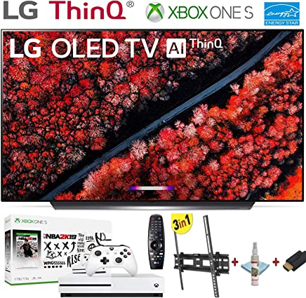 """$1999 Get LG Electronics OLED55C9PUA C9 Series 55"""" 4K Ultra HD Smart OLED TV (2019) w/Xbox One S NBA 2K19 w/3 in 1 Wall Mount kit- Wall Mount, HDMI Cable, TV Cleaning Kit - LG Authorized Dealer."""