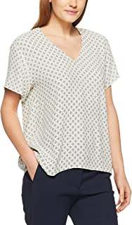French Connection Women's GEO Printed Shirt, Sand/Multi