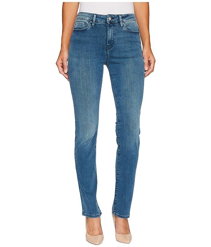 724ebda32434 Mavi Jeans Kendra High-Rise Straight in Light Foggy Blue Tribeca at 6pm