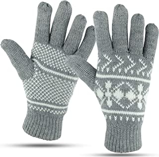 Winter Gloves For Women: Women's Cold Weather Warm Snow Glove: Womens Knit Thinsulate Thermal Insulation