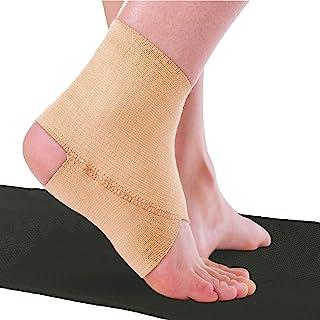 BraceAbility Elastic Ankle Brace   Foot Arch Support Sleeve for Gymnastics, Dance, Ballet, Cheerleading, Tumbling, Yoga, P...