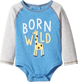 Mud Pie Baby Boy's Born Wild Crawler (Infant) Blue 3-6 Months