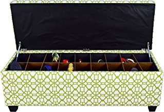 """product image for MJL Furniture Designs Large Upholstered Storage Button Tufted Ottoman, 54"""" x 18"""" x 20"""", Summer Green"""