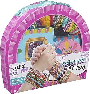 手作りキット ミサンガ お友達とおそろいを手作りできる 《 Friends 4 ever Bracelet ALEX社 》 小学生が喜ぶ 女の子へのプレゼント クラフト ブレスレット セット【日本語説明書付正規品】