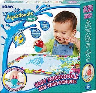 TOMY - Aquadoodle Mes 1ères marques, Tapis de Dessin à l'eau pour Bébé, Jeu officiel de TOMY de Coloriage et de Dessin, No...