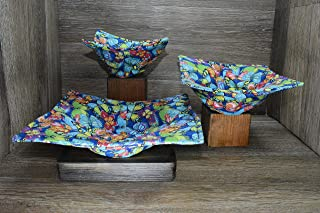 Microwave Bowl Cozies, Set of 3, 1 Small Bowl Cozy, 1 Medium Bowl Cozy, and 1 Dinner Plate Cozy, Whimsical Butterflies