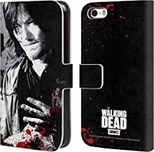 Official AMC The Walking Dead Wounded Hand Gore Leather Book Wallet Case Cover Compatible for iPhone 5 iPhone 5s iPhone SE