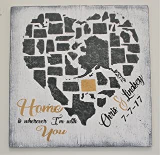 Home Is Wherever I'm With You Wood Sign
