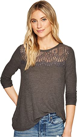 Lace Collar Thermal Top