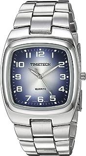 ساعة Viva Time للرجال 2810M Timetech Denim Analog Display Japanese Quartz Silver