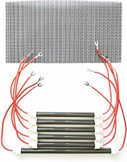SET OF 6 OEM BULBS/HEATING ELEMENTS + Filter for EdenPURE XL 1000 & GEN3 1000 Heaters and more