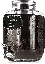 BTäT- Cold Brew Coffee Maker, 1 Gallon Mason Jars Drink Dispenser, 4 Quart Iced Coffee Maker, Iced Tea Maker, Beverage Dispenser, Glass Dispenser, Cold Brew System, Tea Jar