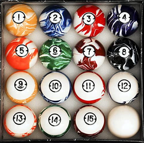 Iszy Billiards Pool - Billiard Table Ball Set Marble Swirl Style Several Styles to Choose from