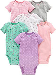 Baby Girls' 6-Pack Short-Sleeve Bodysuit