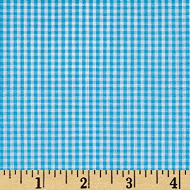 Richland Textiles Richcheck 60in Gingham Check 1/16in Turquoise Fabric By The Yard