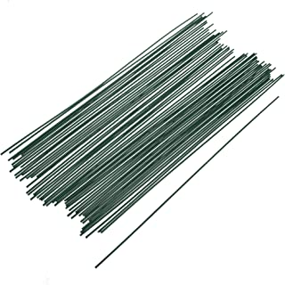 COSMOS Pack of 50 PCS Dark Green Floral Plant Stakes Artificial Flower Stub Stem for Handmade DIY Craft, 12 Inch