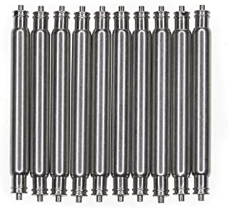 OEM Spring Bar 18mm 10 Pcs Non-Magnetic Stainless Steel 18mm x 1.8mm x 0.8mm Double Fringe
