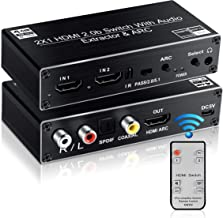 avedio links HDMI Switch Audio Extractor, HDMI Switch Splitter 2 Inputs 1 Output with..