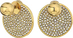 Vince Camuto - Crystal Pave Disc Front Back Earrings