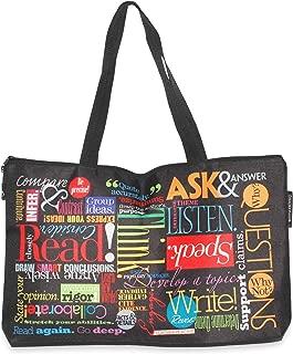 """""""Words to Grow By"""" Motivating Teacher Tote Bag Best Teacher Gift for Women & Men"""
