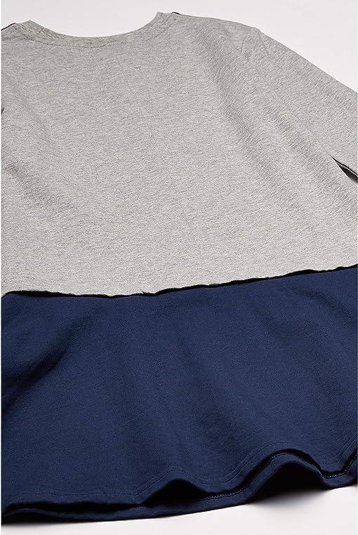 Grey/Navy/Red