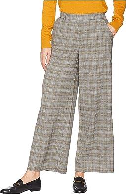 Menswear Plaid Culotte Pants