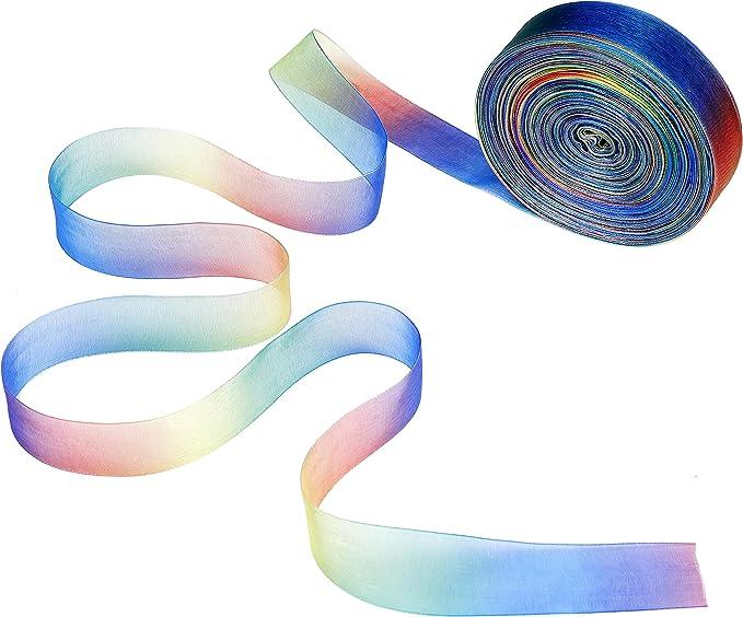 108 opinioni per Nastro di organza 50 Yarde arcobaleno di colori Shimmer organza nastri per