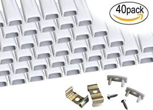 40-Pack 3.3ft/1Meter 9x17mm U Shape LED Aluminum Channel System with Cover, End Caps and Mounting Clips Aluminum Profile for LED Strip Light Installations, Led Lights Diffuser Segments.