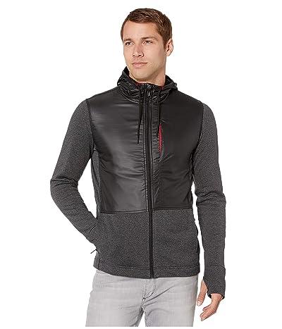 Smartwool Merino Sport Fleece Full Zip Hybrid Hoodie (Charcoal Heather) Men