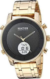 Men's Analog Quartz Metal Case Stainless steel Band Casual Watch Black/ Gold (RK50083009/ 10)
