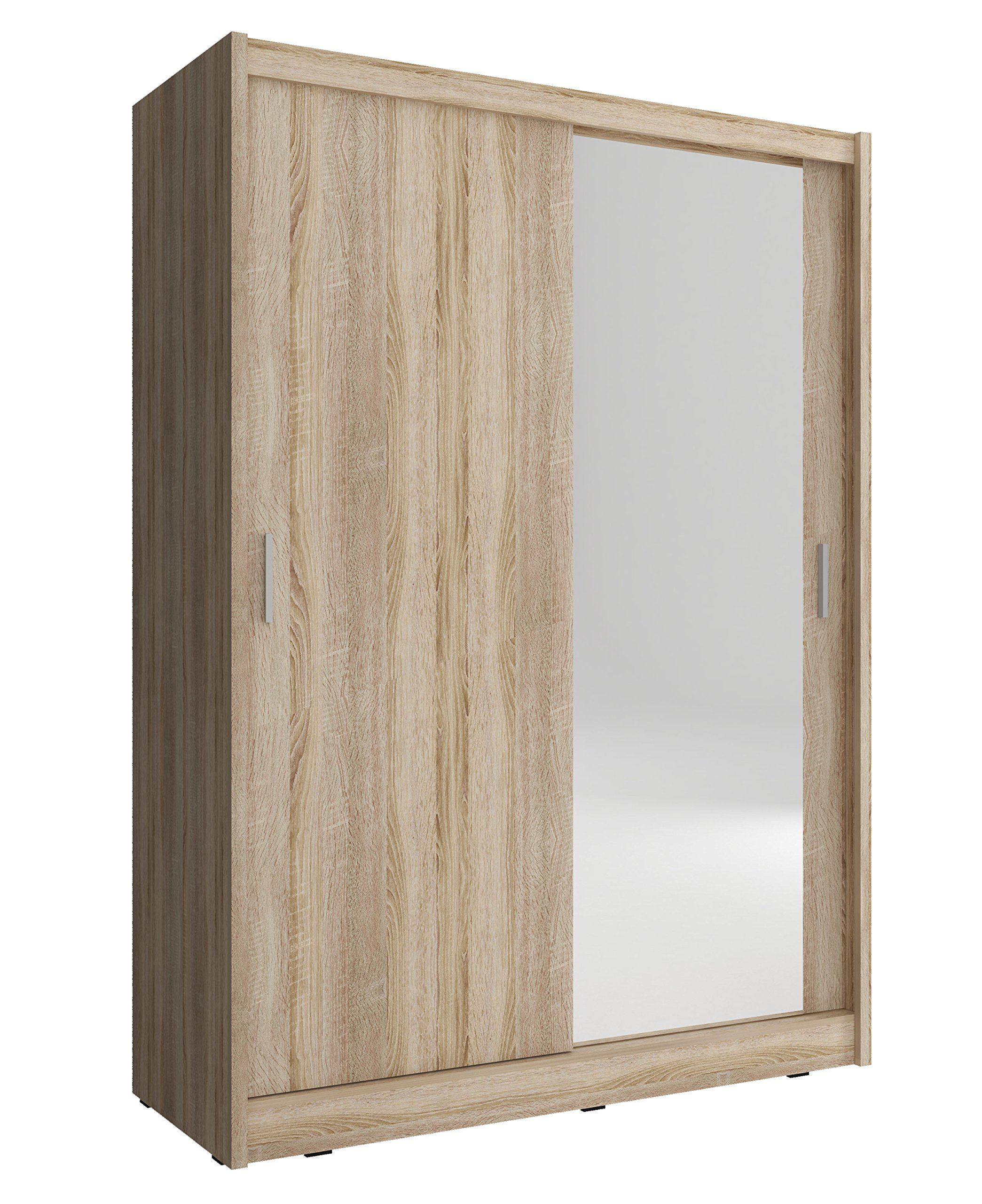 Armario de 2 puertas correderas, 130 cm de ancho, madera color maya, Sonoma: Amazon.es: Hogar
