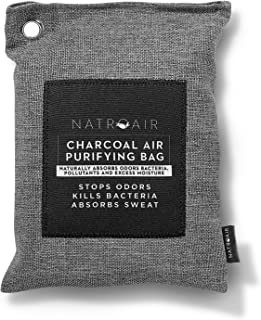 Natroair Charcoal Air Purifying Bags - 4 pk, 600ml - Natural Bamboo Purifier and Dehumidifier for Cars, Closets and Pet Homes - Absorbs and Removes Odors and Mildew - Lasts up to 2 Years