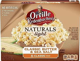 Orville Redenbacher's Naturals Light Classic Butter & Sea Salt Popcorn, 2.69 Ounce Classic Bag, 6-Count