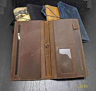 Hobonichi Weeks Mega Cover/Travelers Notebook Wallet B6 Slim Leather [Style: Lireo] (Brown)