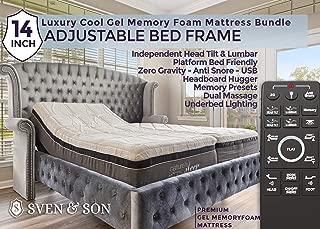 Sven & Son Split King Adjustable Bed Base Frame (Individual Head Tilt & Lumbar) + 14