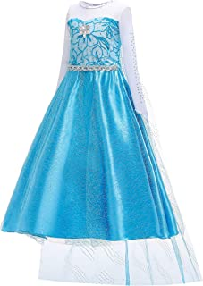 Tussclevogue Princess Dresses for Toddlers, Princess Dress Up, Princess Dresses for Little Girls 3-7 Years