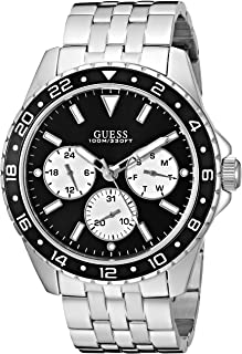 GUESS Black and Silver-Tone Chronograph Watch