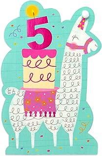 American Greetings 5th Birthday Card for Girl (Llama)