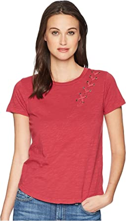 Lace-Up Shoulder Tee