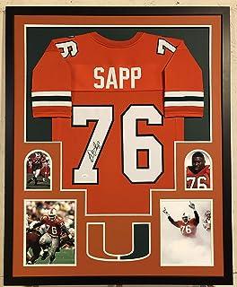 Warren Sapp Autographed Custom Framed Miami Hurricanes Jersey JSA Witnessed COA