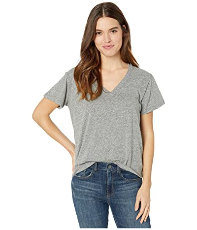 CURRENT/ELLIOTT The Perfect V Tee (Heather Grey) Women