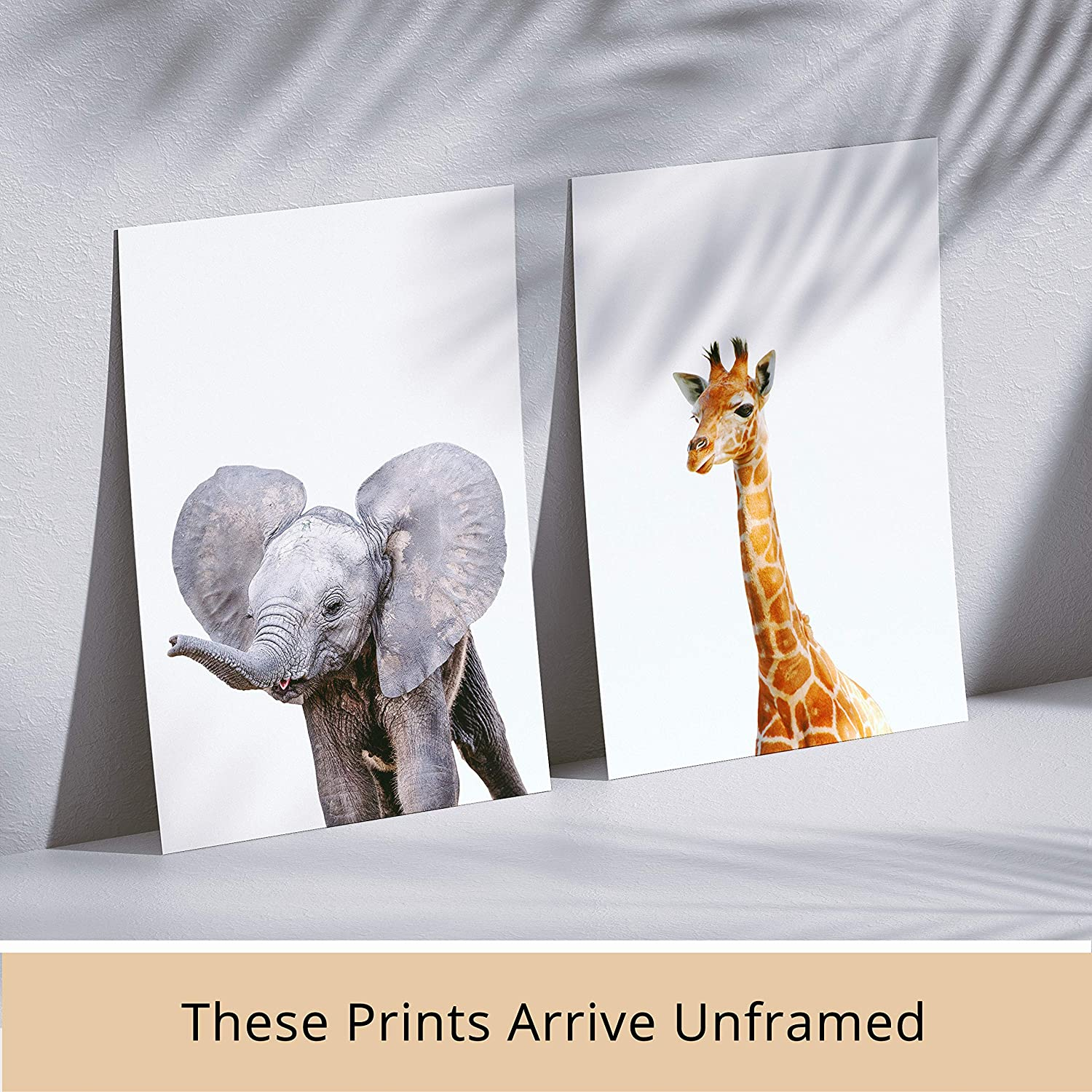 DecorShop Nursery Decor for Girls Enjoy Your Safari Animals Prints for Decades with Animal Wall Art Pictures on Beautiful Sturdy Pearl Paper Make Your Baby Boy and Girl Nursery Room Look Amazing