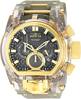 Invicta Men's Bolt Stainless Steel Quartz Watch with Silicone Strap, Grey, 34 (Model: 29999)