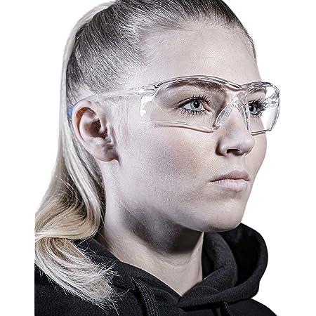 SOLID. lunette de protection travail avec ajustement parfait & protection latérale intégrée   lunettes de sécurité avec verres clairs, résistants aux rayures, antibuée & anti-UV   homme & femme