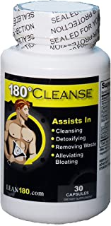 SALE! All Natural Weight Loss and Cleanse Supplement, Detox Your Body, Reduce Belly Bloating, Feel Better, Slim Down, Strong, Effective 15 Day Formula (30 capsules) - Lean 180 Cleanse