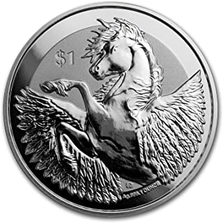 2018 UK BVI 1 oz Silver Pegasus Reverse Frosted BU 1 OZ Brilliant Uncirculated