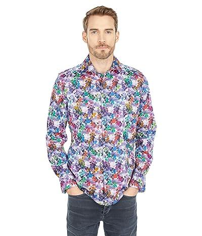 Robert Graham Mixed Media Long Sleeve Woven Shirt