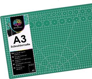 OfficeTree Tapis de Decoupe A3 - Tapis de Coupe Auto-cicatrisant 45 x 30 cm - Tapis de Decoupe Couture Pour Coupe Professi...